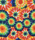3 Yard Pre-Cut Snuggle Fabric 42\u0022-Classic Circle Tie Dye