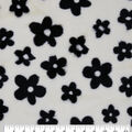 Faux Fur Fabric-White Daisy