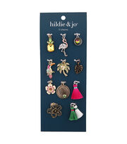 hildie & jo Zinc Alloy & Iron Tropical Charm Pack, , hi-res