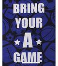 No Sew Fleece Throw-Bring Your A Game