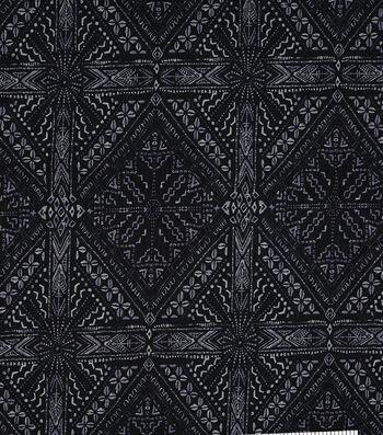 Boho 7 oz. Denim Fabric 57''-Tile Printed