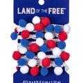 Land of the Free Trim 5/8\u0022 Pom 12ft-Red White Blue