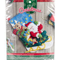 Santa\u0027s Helper Stocking Felt Applique Kit 18\u0022 Long