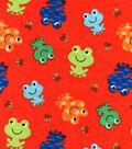 Snuggle Flannel Fabric 42\u0027\u0027-Happy Frogs & Bees