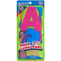 Quick Letter&Number Pads Repositionable 181/Pkg-Neon Colors Jumbo 4\u0022, W/Centering Ruler