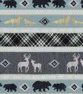 Nursery Cotton Fabric 43\u0022-Stripe Animals