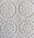 Lace Knit Fabric 48\u0027\u0027-Ivory Medallion Floral