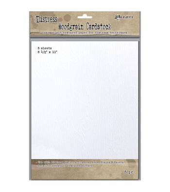 "Tim Holtz Distress Woodgrain Paper 5 Sheets-8.5""X11"""