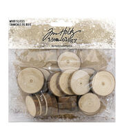 """Idea-Ology Wood Slices 20/Pkg-Natural Raw Edge 1"""" To 1.25"""", , hi-res"""