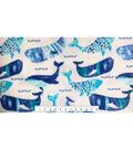 Nursery Fleece Fabric -Gordan Whale