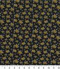 Quilter\u0027s Showcase Fabric 44\u0027\u0027-Amber Yellow Ditsy Floral on Black