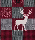Snuggle Flannel Fabric -Stage Moose Patchwork