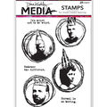 Ranger Dina Wakley Media Cling Stamps-Weird is Good