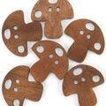 Favorite Findings 6 pk Mushroom Buttons
