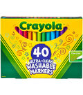 Crayola Ultra-Clean Fine Line Markers -Assorted Colors 40/Pkg