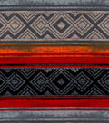 Snuggle Flannel Fabric-Aztec Stripe Red Teal