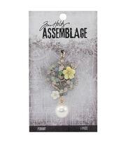 Tim Holtz Assemblage 1.25''x2.25'' Jeweled Bouquet Pendant, , hi-res