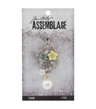 Tim Holtz Assemblage 1.25''x2.25'' Jeweled Bouquet Pendant