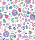 Easter Cotton Fabric-Mixed Theme Floral Bunny