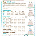 Kwik Sew Pattern K0232 Girls\u0027 Lined Dresses with Bands-Size XXS-XS-S-M-L