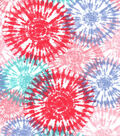 Snuggle Flannel Fabric-Tie Dye Burst Coral