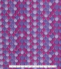 Blizzard Fleece Fabric -Purple Mermaid Scales