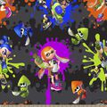 Nintendo Print Fabric-Splatoon Action