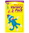 Sock Monkeys Solids Mini Accents Variety Pack, 36 Per Pack, 6 Packs