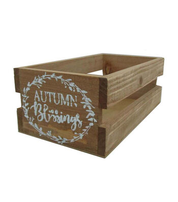 Blooming Autumn Wood Crate-Autumn Blessings