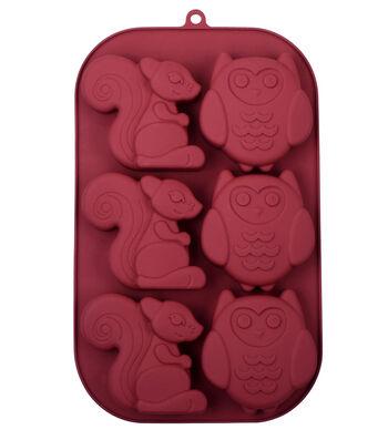 Silicone Treat Mold 7''x11''-Owls & Squirrels