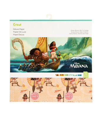 Cricut 6 pk 12''x12'' Disney Moana Born to Voyage Deluxe Papers