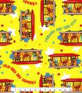 Disney Junior Daniel Tiger Cotton Fabric -Friends on Yellow