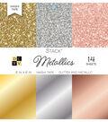 DCWV Pack of 14 6\u0022x6\u0022 Glitter & Metallic Washi Tape Stack-Metallics