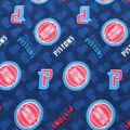 Detroit Pistons Fleece Fabric -Logo Toss