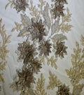 Gianna Hand Beaded 3D Metallic Fabric 51\u0022-White/Eggnog