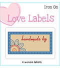 Iron-On Love Labels Handmade by-Blue