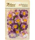 Textured Elements Briar Rose Canvas 2\u0022-Purple