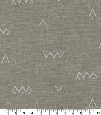 Waverly Upholstery Fabric 54''-Arrow on Solid Pewter