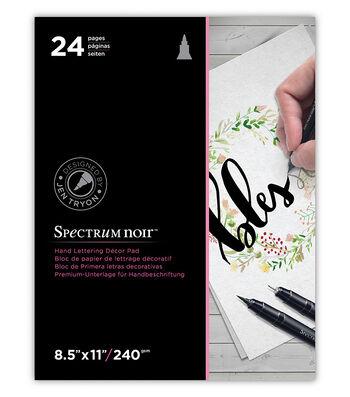 """Spectrum Noir Hand Lettering Decor Pad 8.5""""X11""""-"""