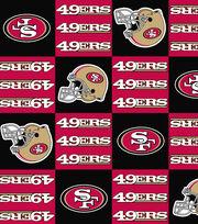 San Francisco 49ers Fleece Fabric -Block, , hi-res