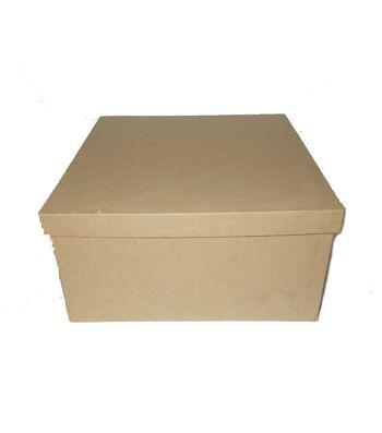 Paper Mache 10'' Box-Square
