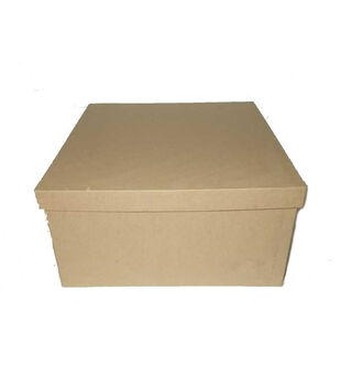 Square Paper Mache Box 10''