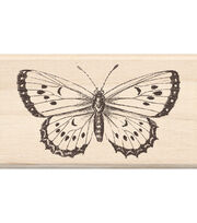 "Mounted Rubber Stamp 1.75""X3""-Big Butterfly, , hi-res"