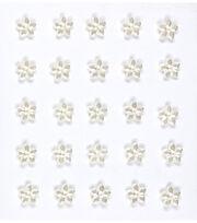 Jolee's Boutique 25 Pack Mini Flower Gems Pearl Embellishments, , hi-res