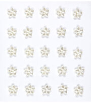 Jolee's Boutique 25 Pack Mini Flower Gems Pearl Embellishments, , hi-res