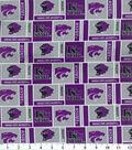 Kansas State University Wildcats Cotton Fabric -Herringbone