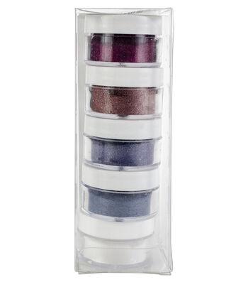 Elizabeth Craft Designs Silk Microfine Glitter Palette 5/Pkg-Bloom