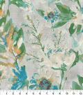 Kelly Ripa Home Upholstery Fabric 9\u0022x9\u0022 Swatch-Flower Mania Seaglass