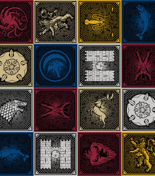 Game Of Thrones Cotton Fabric -House Sigils