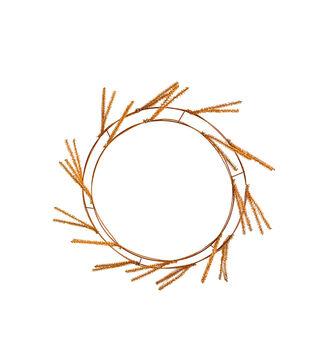 Maker's Halloween Wire Wreath Form-Orange